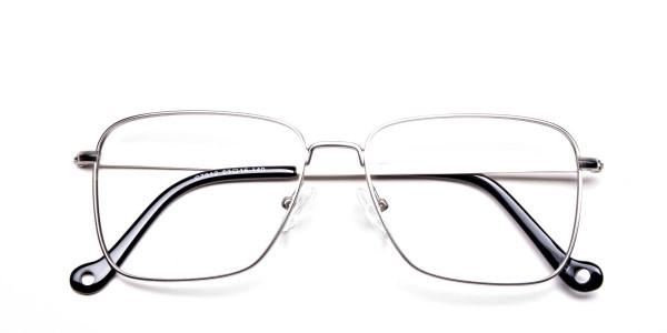 Silver Rectangular Glasses, Eyeglasses -6