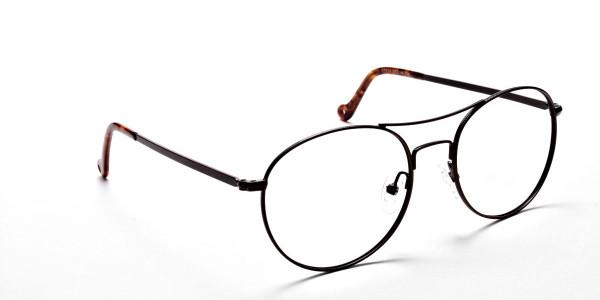 Brown Metal Eyeglasses - 2