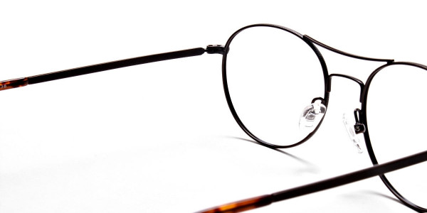 Brown Glasses in Round and Aviator , Eyeglasses -5