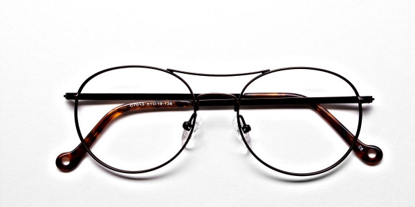Brown Glasses in Round and Aviator , Eyeglasses -6