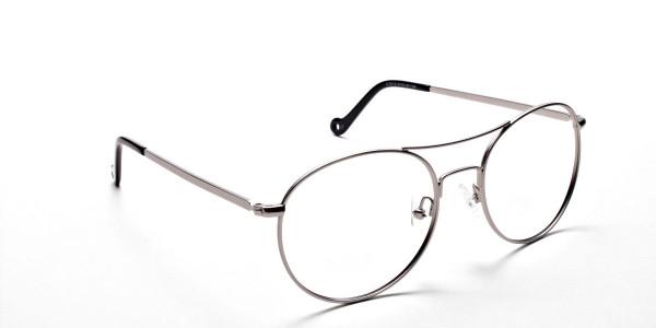 Silver Round Glasses, Eyeglasses -2