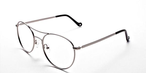Silver Round Glasses, Eyeglasses -3