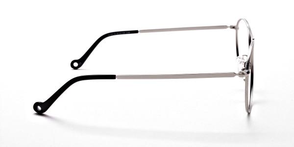 Silver Round Glasses, Eyeglasses -4