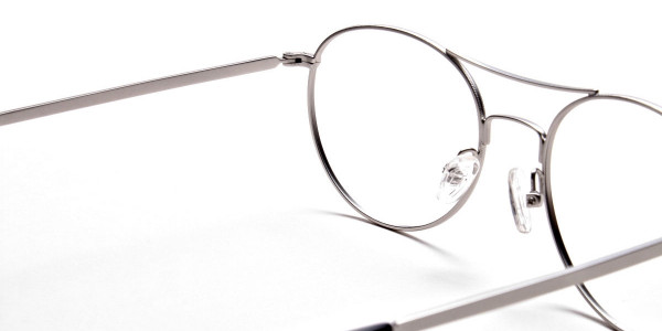 Silver Round Glasses, Eyeglasses -5