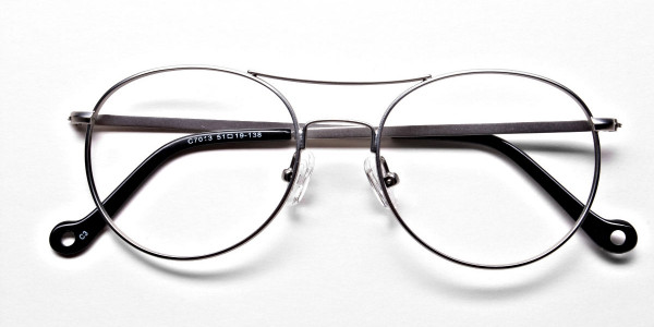 Silver Round Glasses, Eyeglasses -6