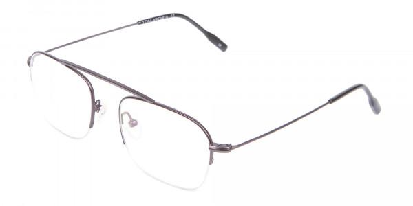 Gunmetal Browbar Half Rim Glasses Online UK-3
