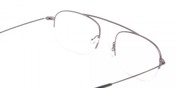 Gunmetal Browbar Half Rim Glasses Online UK-5