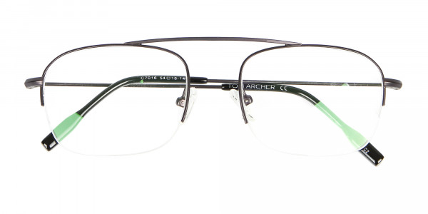 Gunmetal Browbar Half Rim Glasses Online UK-6