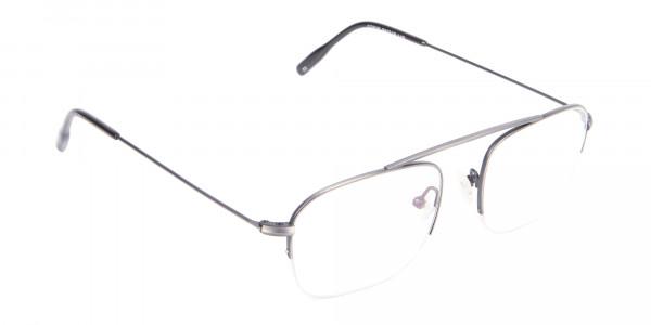 Detail Semirimless Frame Silver Bridgeless -2