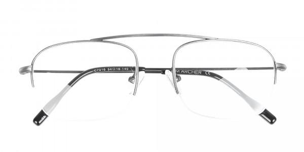 Detail Semirimless Frame Silver Bridgeless -6