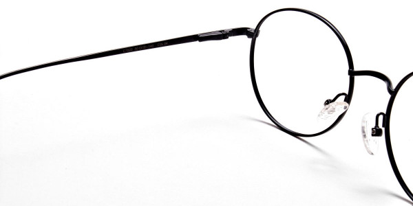 Round Glasses in Black, Eyeglasses -5
