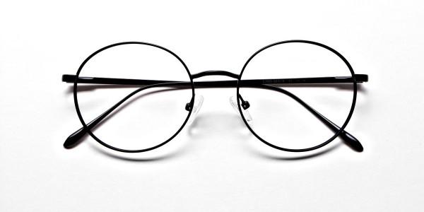 Round Glasses in Black, Eyeglasses -6