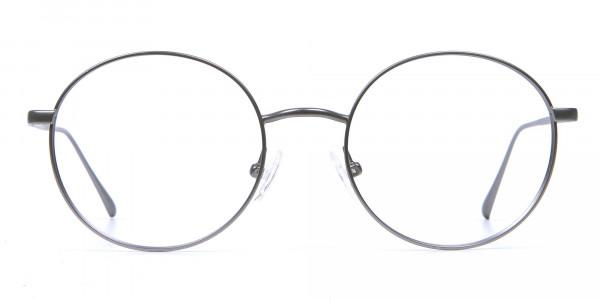 Round Glasses in Gunmetal, Eyeglasses -1