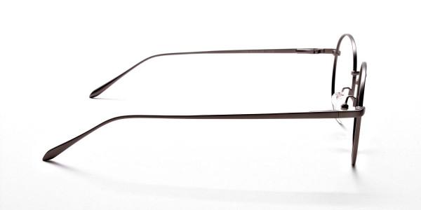 Round Glasses in Gunmetal, Eyeglasses -4