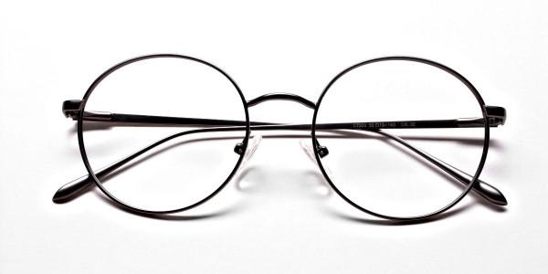 Round Glasses in Gunmetal, Eyeglasses -6