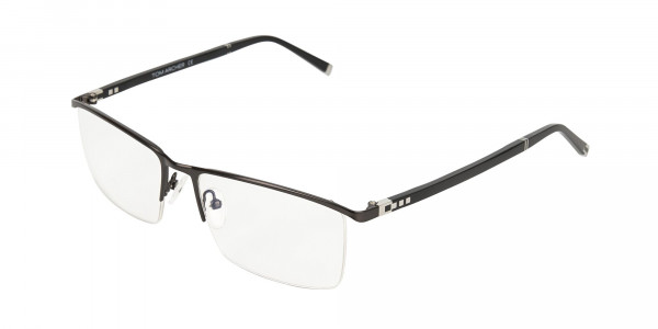 Black Semi-Rimless Glasses in Rectangular-3