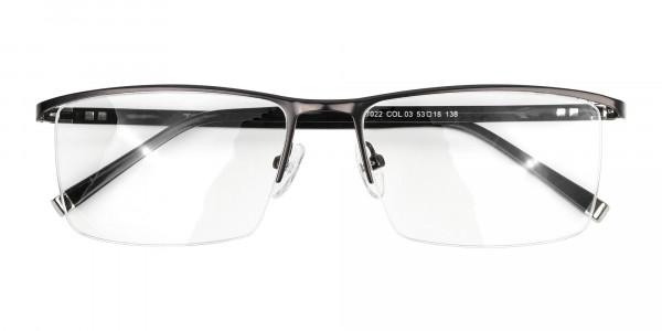 Black Semi-Rimless Glasses in Rectangular-6