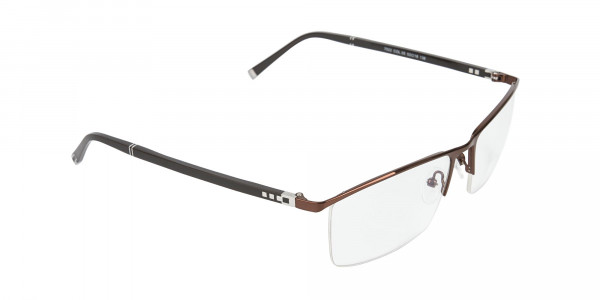 Brown and Black Semi-Rim Glasses-2