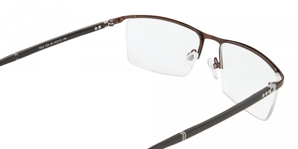 Brown and Black Semi-Rim Glasses-5