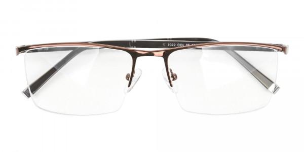 Brown and Black Semi-Rim Glasses-6