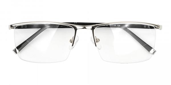 Silver and Black Semi-Rim Glasses-6