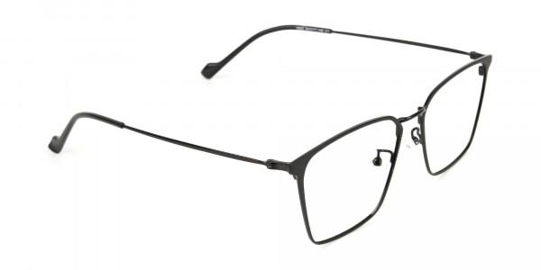 Black Wayfarer Glasses in Lightweight Metal -2