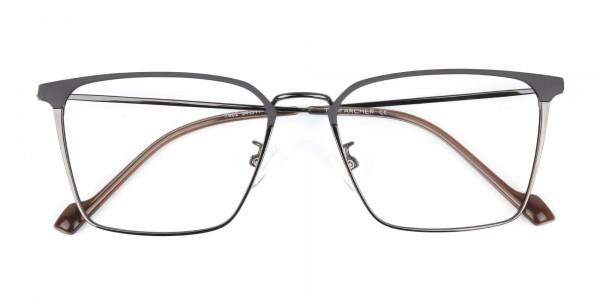Gunmetal Wayfarer Glasses in Lightweight Metal-6