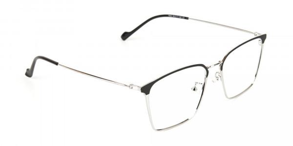 Silver Wayfarer Glasses in Lightweight Metal-2