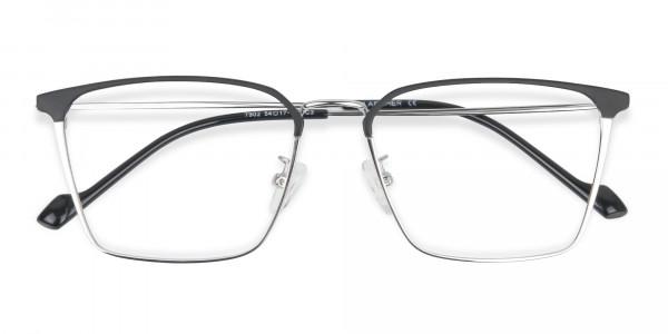 Silver Wayfarer Glasses in Lightweight Metal-6