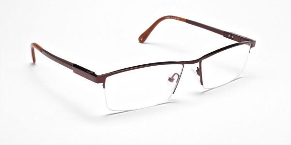 Luscious Chocolate Brown Half-Rim Frame -2