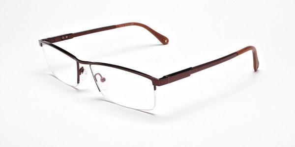 Luscious Chocolate Brown Half-Rim Frame -3