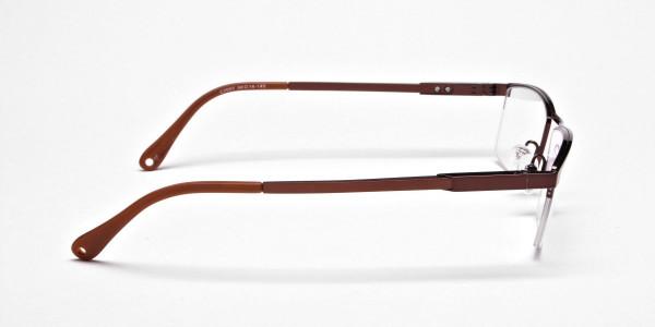 Luscious Chocolate Brown Half-Rim Frame -4