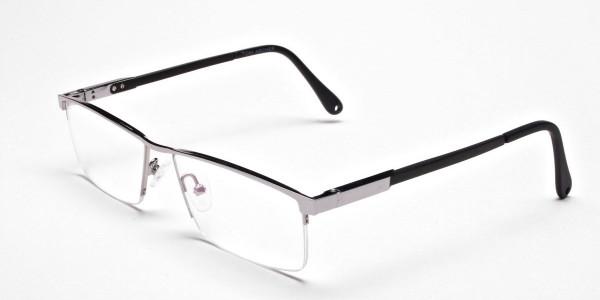 Smart Half-Rim Glasses Gunmetal & Silver  -3