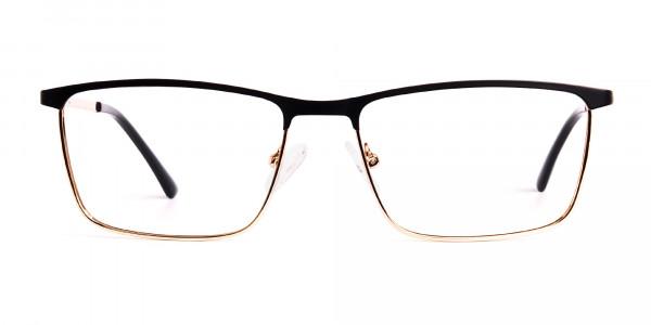 black-and-gold-metal-rectangular-full-rim-glasses-frames-1