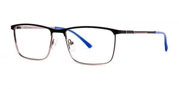 black-and-blue-gunmetal-rectangular-full-rim-glasses-frames-3