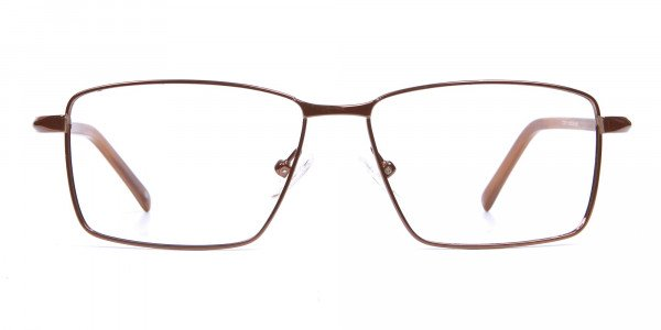 Rectangular Styled Glasses in Brown