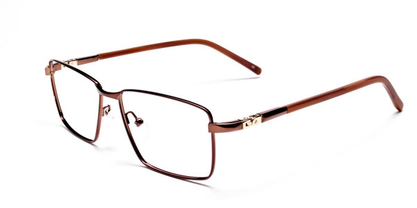 Rectangular Styled Glasses in Brown -2