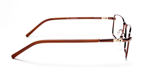 Rectangular Styled Glasses in Brown -3