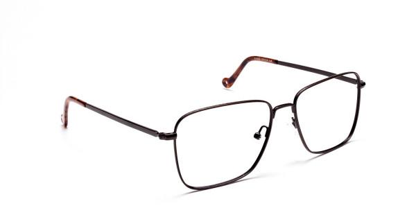 Brown Tortoiseshell Rectangular Glasses