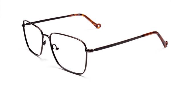 Brown Tortoiseshell Rectangular Glasses -3