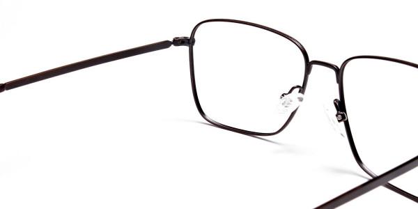 Brown Tortoiseshell Rectangular Glasses -5
