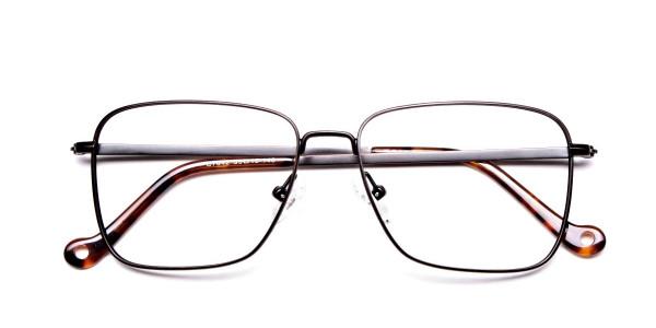 Brown Tortoiseshell Rectangular Glasses -6