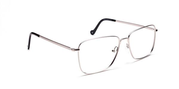 Silver Rectangular Glasses, Eyeglasses -2