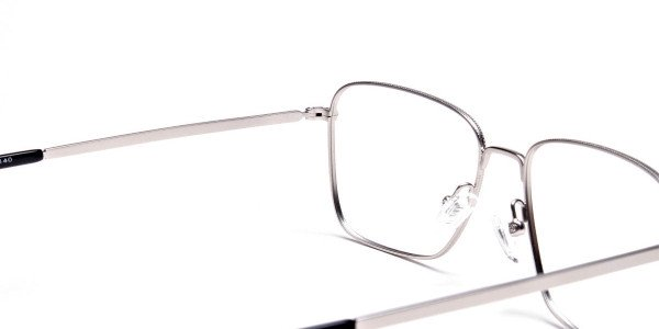 Silver Rectangular Glasses, Eyeglasses -5