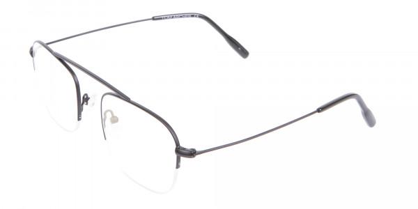 Trendy Designer Half-rimmed Black Frame UK-3