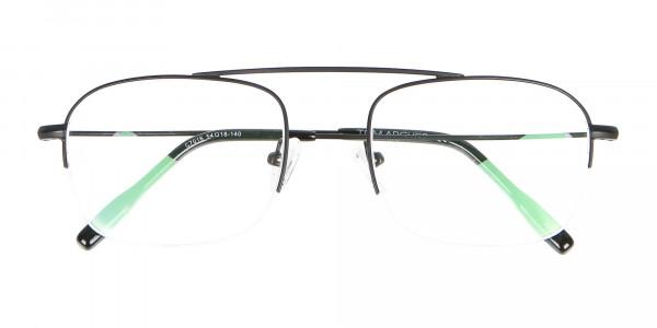 Trendy Designer Half-rimmed Black Frame UK-6