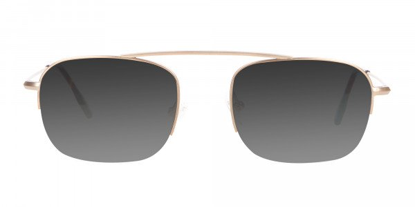 Gold Metal Sunglasses - 1