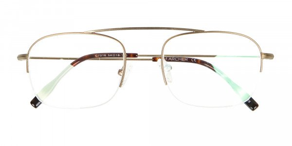 Gold Featured Metal Half-Rimmed Glasses-6