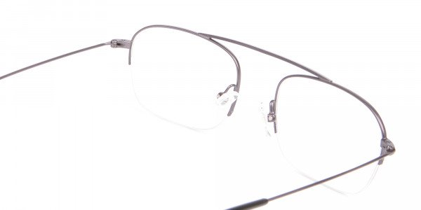 Gunmetal Browbar Half Rim Glasses Online UK-5