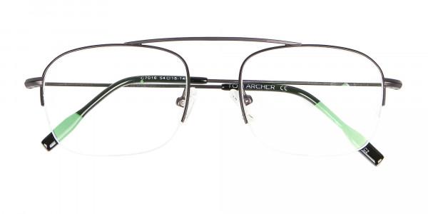 Gunmetal Browbar Half Rim Glasses Online UK-6